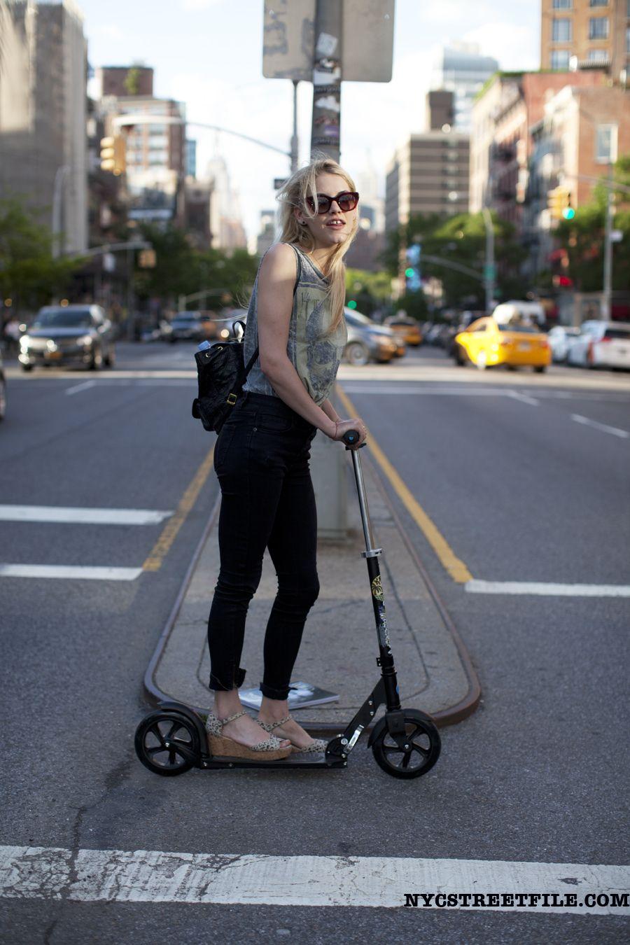 #AshleySmith scooting around #offduty in NYC.