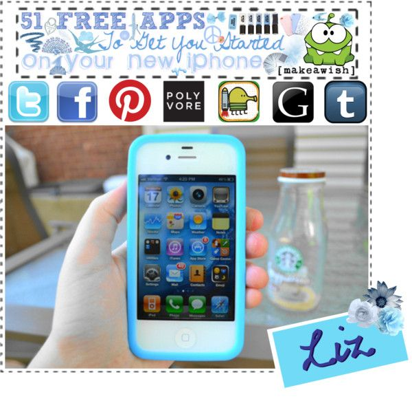"""""""51 Free Apps To Get You Started On Your New iPhone"""" by toucan32 on Polyvore"""