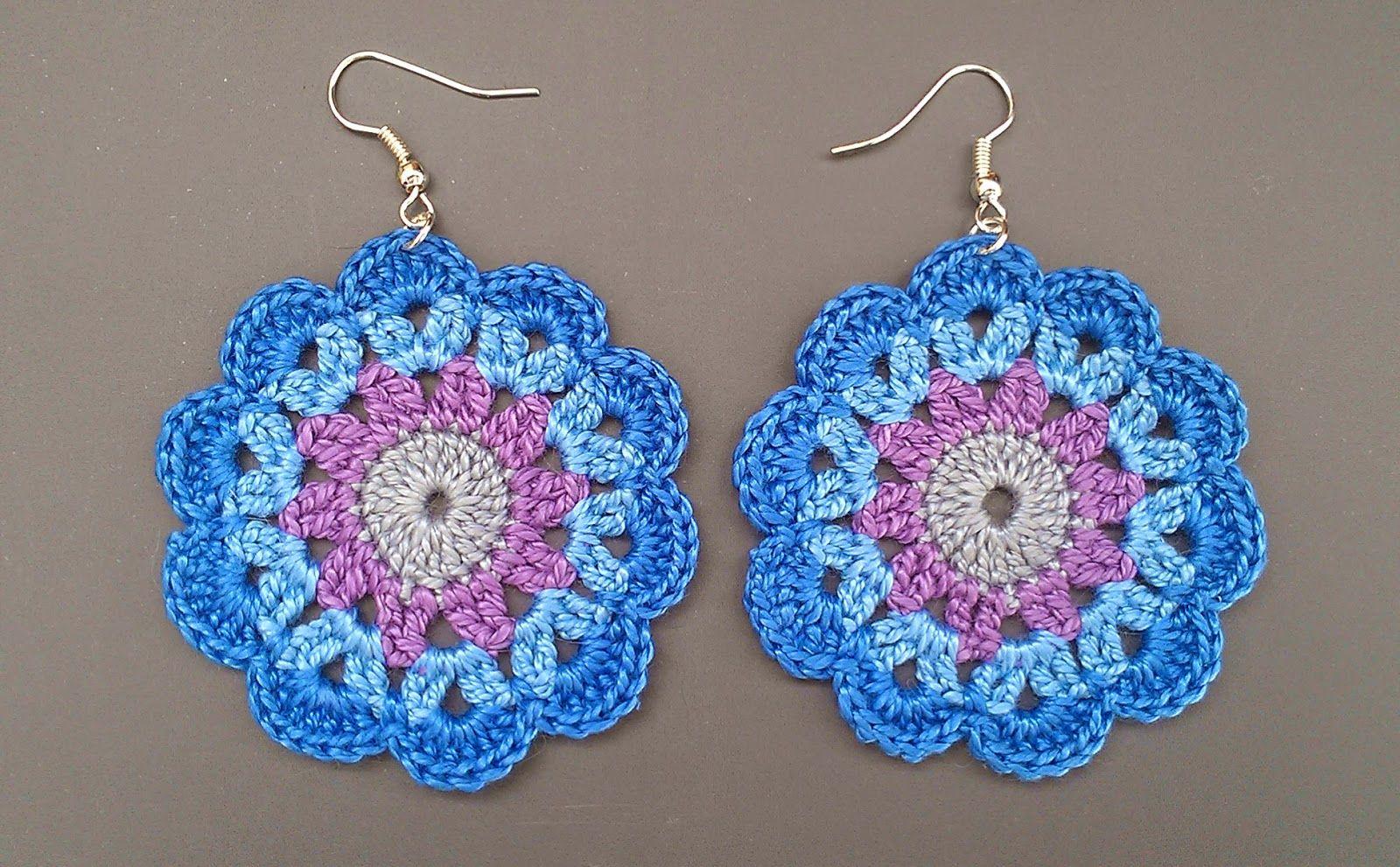 Crochet Mandala Style Earrings
