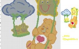 Care Bear on the swing