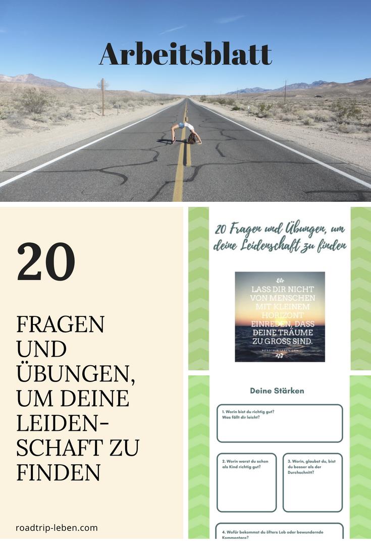 Hol dir dein kostenloses Arbeitsblatt mit 20 Fragen und Übungen, um ...