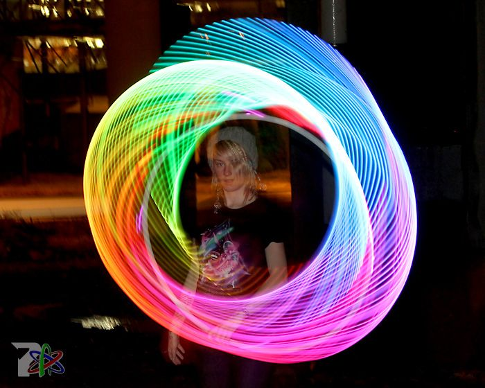 Proton Labs - Helix LED hoop... use software to customize with 256 different visual patterns.  Swoon.