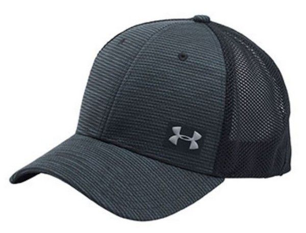 Under Armour Men s UA Blitzing Trucker Baseball Cap Hat Mesh Back Black OSFA f5635e8f52e