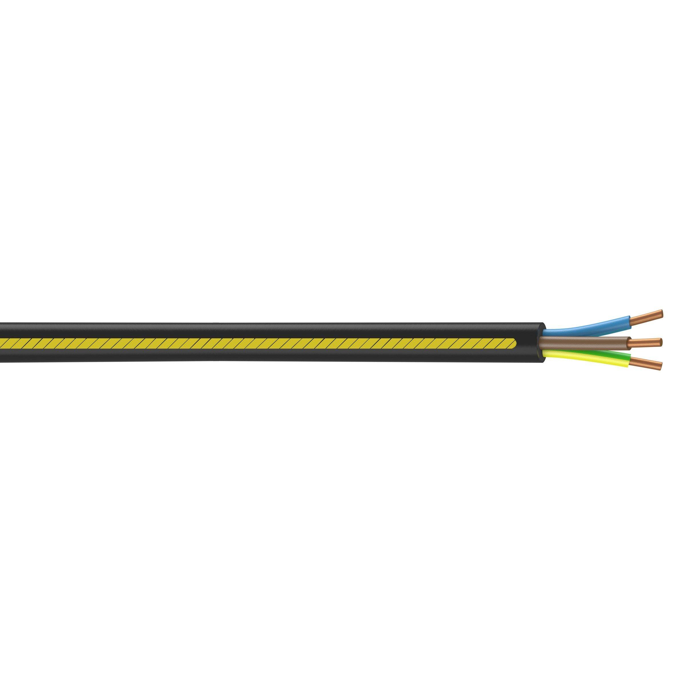 Cable Electrique U1000r2v Noir L 15 M 2 5 Mm Nexans Cable Electrique Circuit Electrique Et Electrique