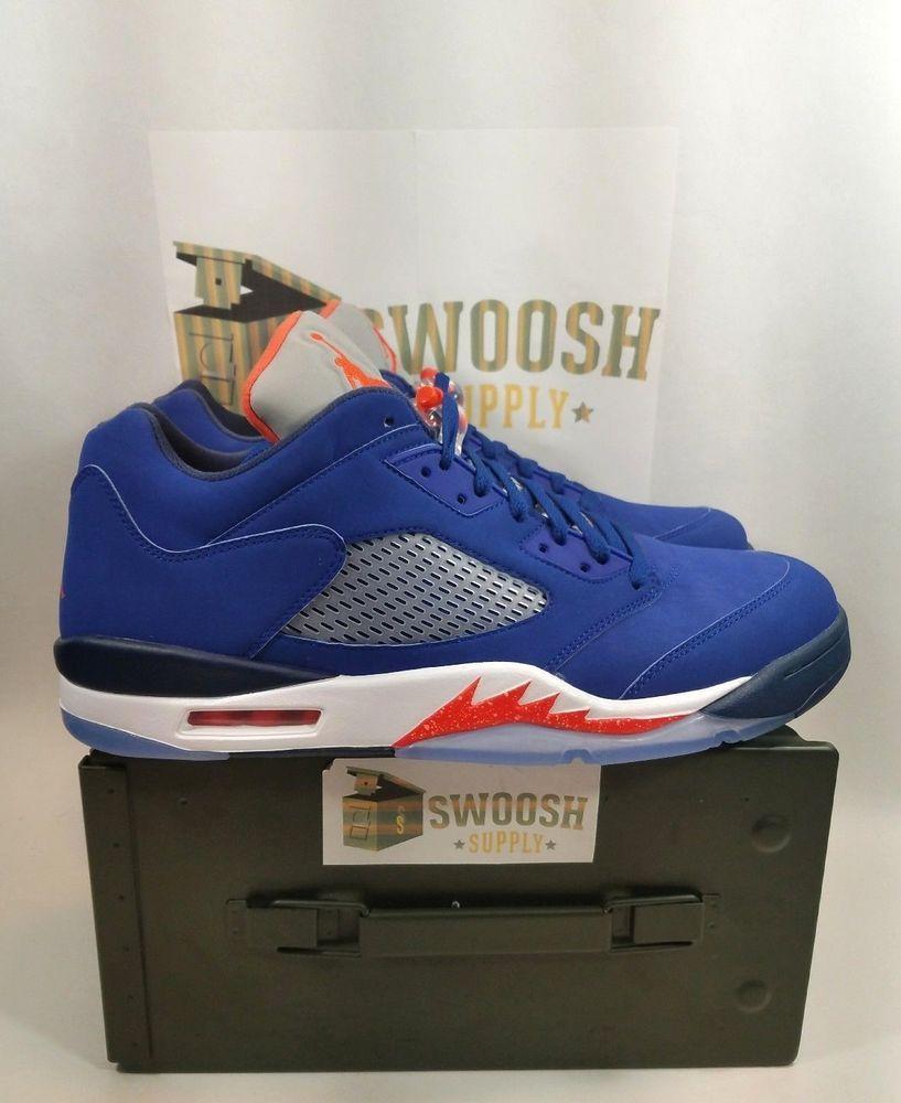 f1b8fbc7354c Nike Air Jordan 5 V Retro Low Knicks Royal Blue Orange Navy SZ 14  819171-417  Nike  AthleticSneakers
