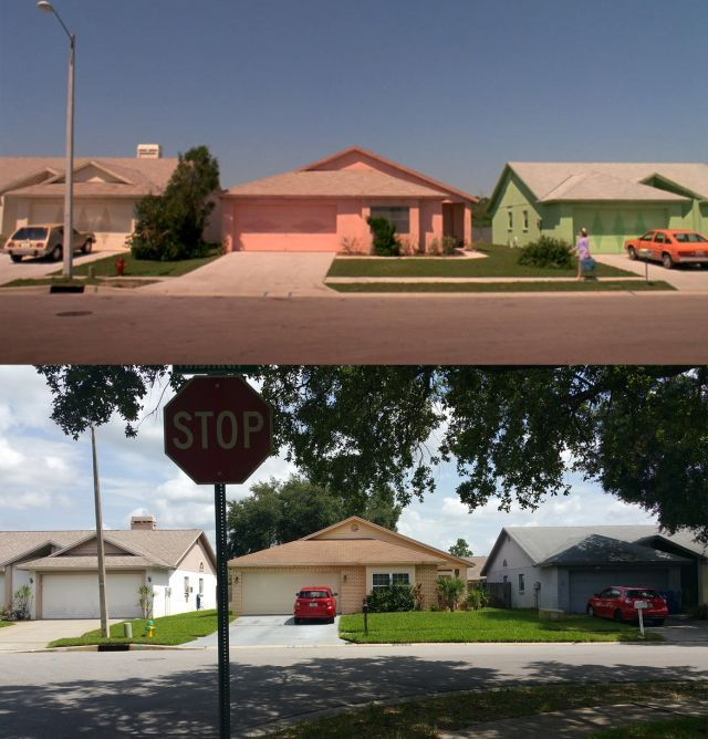 See what the colorful neighborhood from 'Edward Scissorhands' looks like 25 years later - Alternative Press