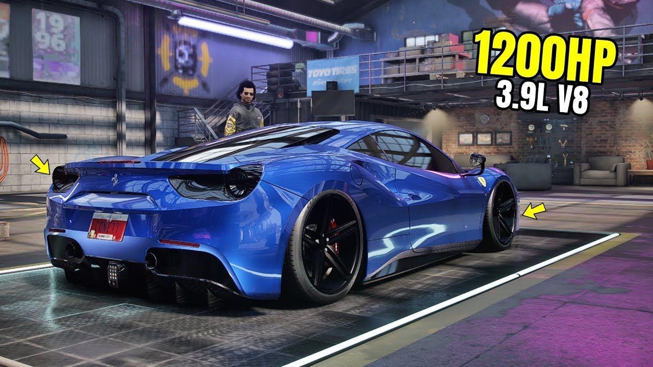 Need For Speed Heat Gameplay 1200hp Ferrari 488 Gtb Customization Ma Ferrari 488 Ferrari Need For Speed
