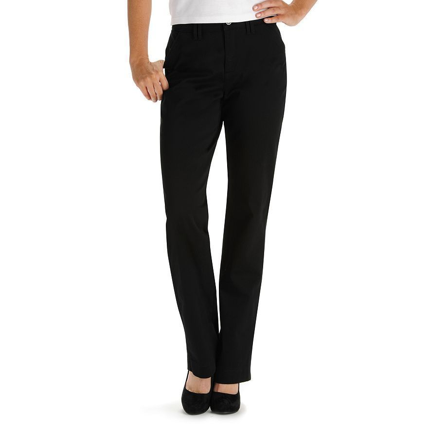 Lee boot cut Sinfully Soft Comfort Waist Twill Pants black Women's ...