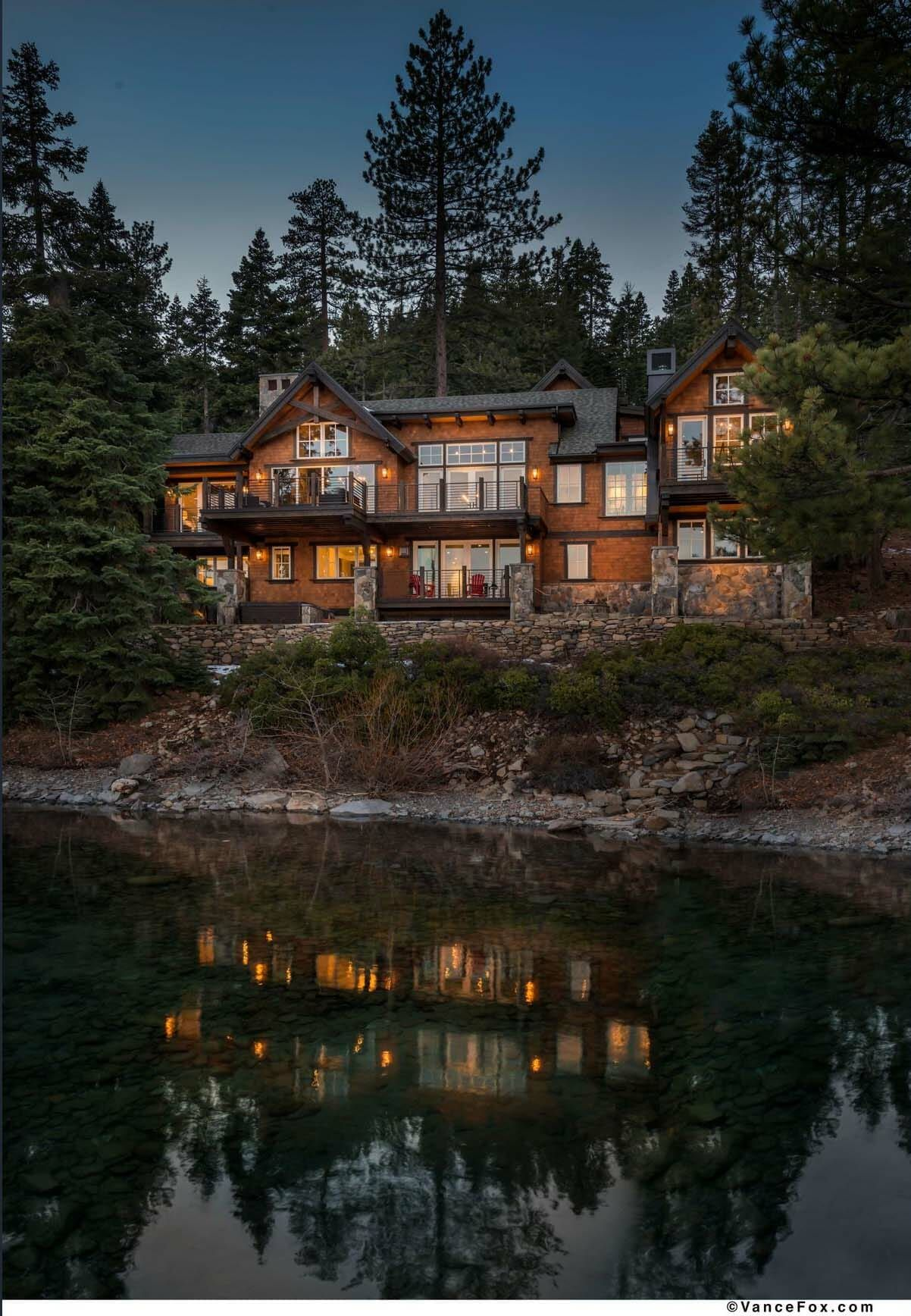 Photo of Beautiful rustic lakefront home tucked away on the shores of Lake Tahoe