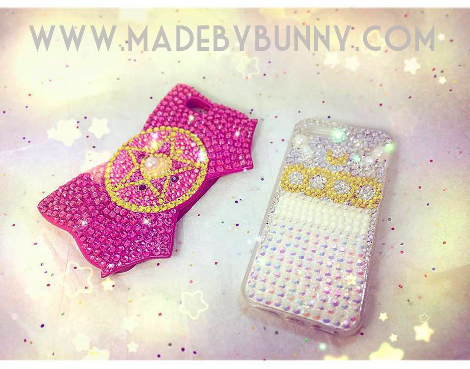 PRINCESS SERENITY | Sailor Moon Crystal | Bedazzled iPhone 5s Case | USAGI / SERENA | Sparkle Rhinestones & Pearls - Thumbnail 4