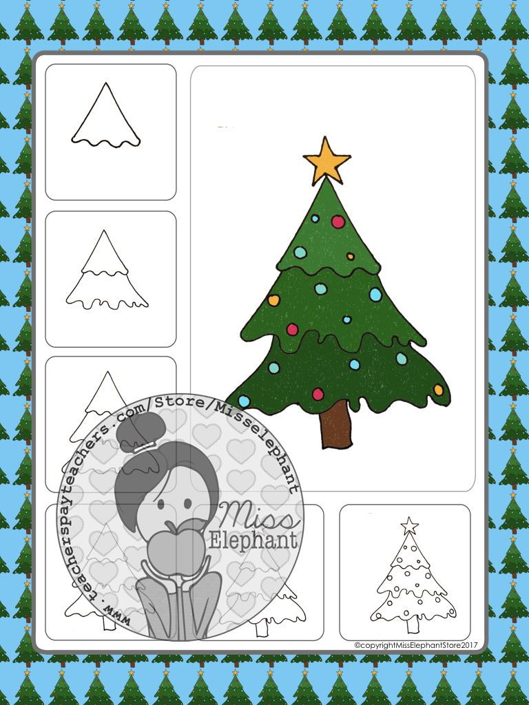 How To Draw A Christmas Tree Art For Kids Hub Christmas Tree Drawing Art For Kids Hub Christmas Tree Art