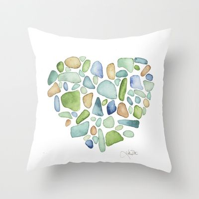 Heart Of The Sea Sea Glass Watercolor By Katrina Pete Welcome To