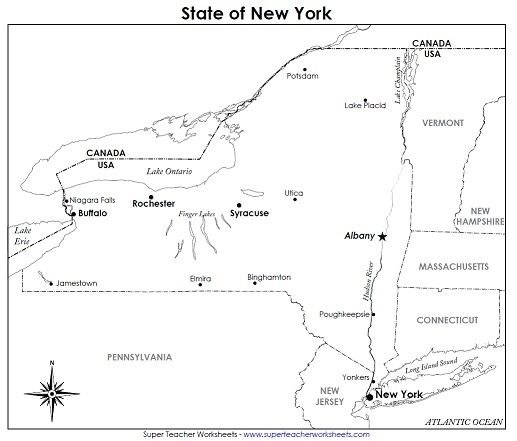 Super Teacher Worksheets now has printable maps for all 50 states – State Worksheets