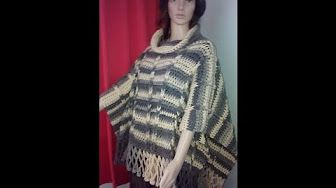 Haken Tutorial South Bay Poncho Youtube Haken Haken Breien