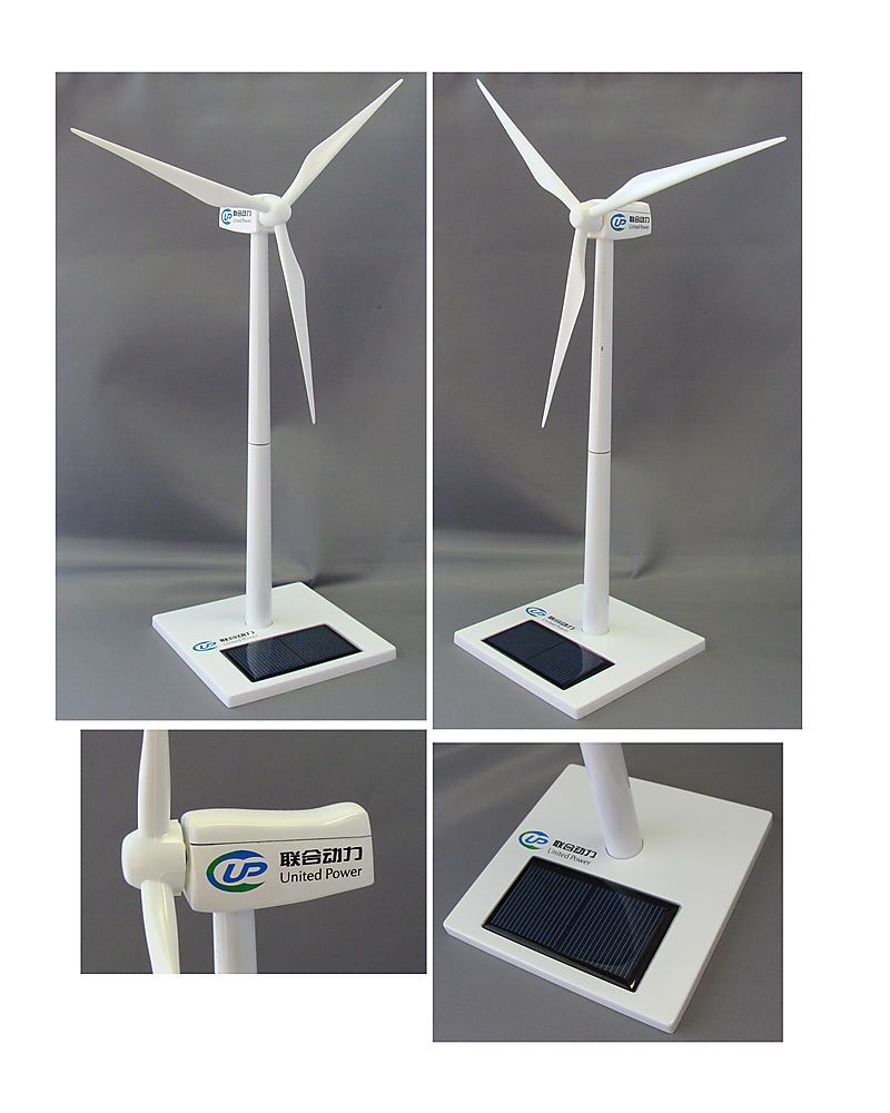 Desk Sized Wind Turbine With Your Company Logo It Has A