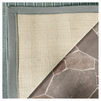 Ivory Blue/Gray Stripe Woven Area Rug - (9'X12') - Safavieh