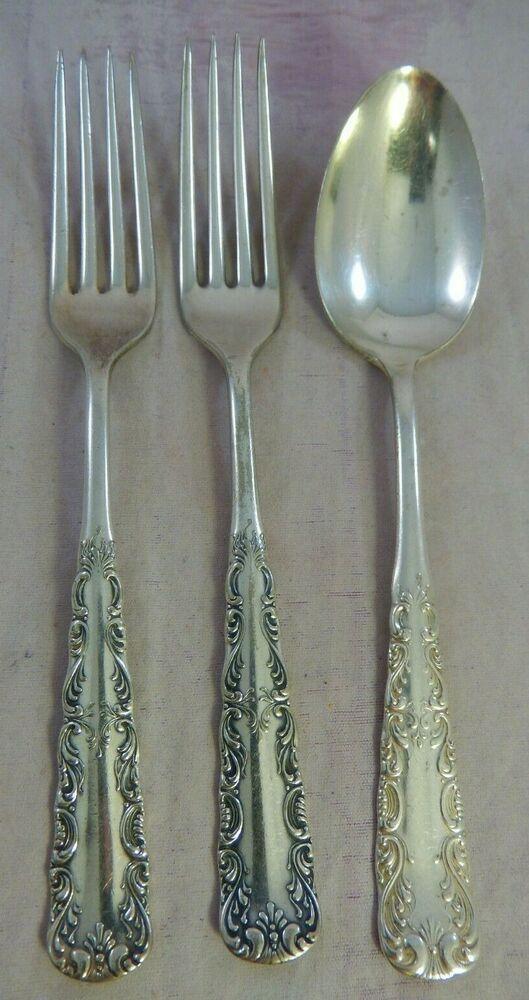 Rogers 1940 DINNER FORK IS Silverplate Flatware