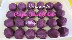LY's Kitchen Ventures: Homemade Purple Sweet Potato Filling