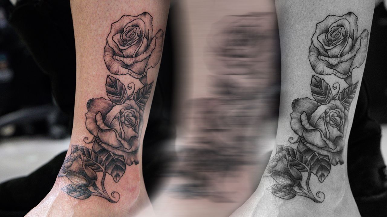 A nice subtle rose on the leg/foot. Click the link to