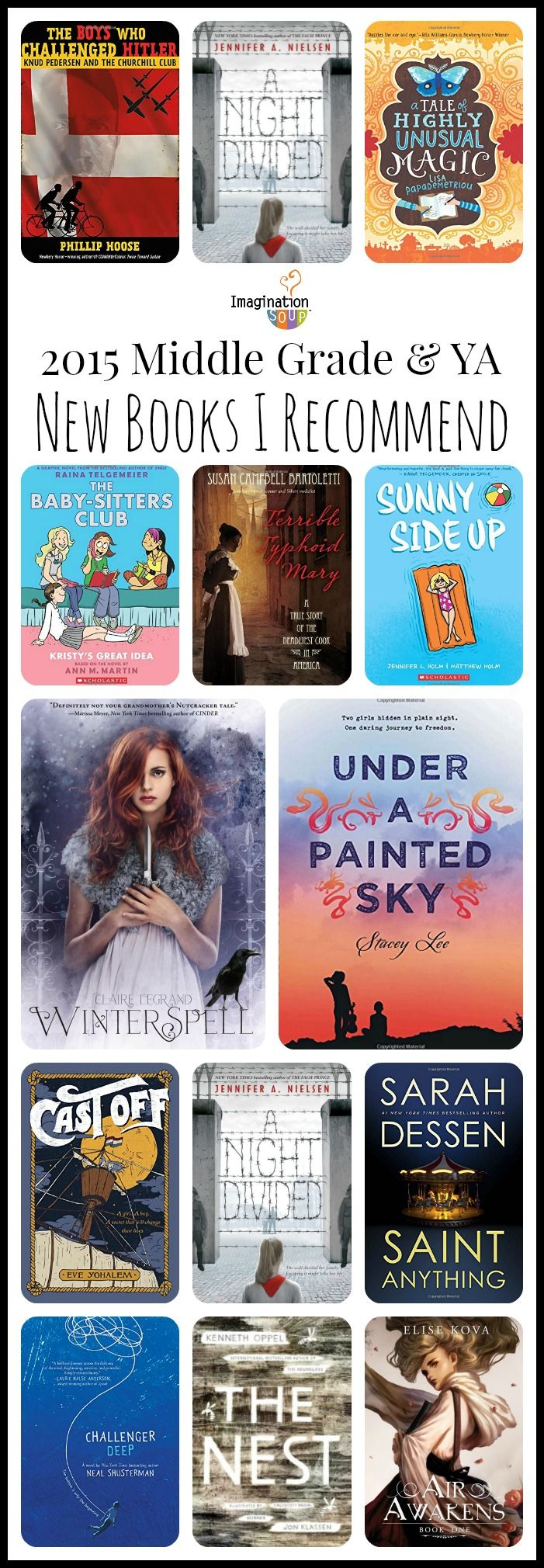 2015 ya and middle grade books I recommend
