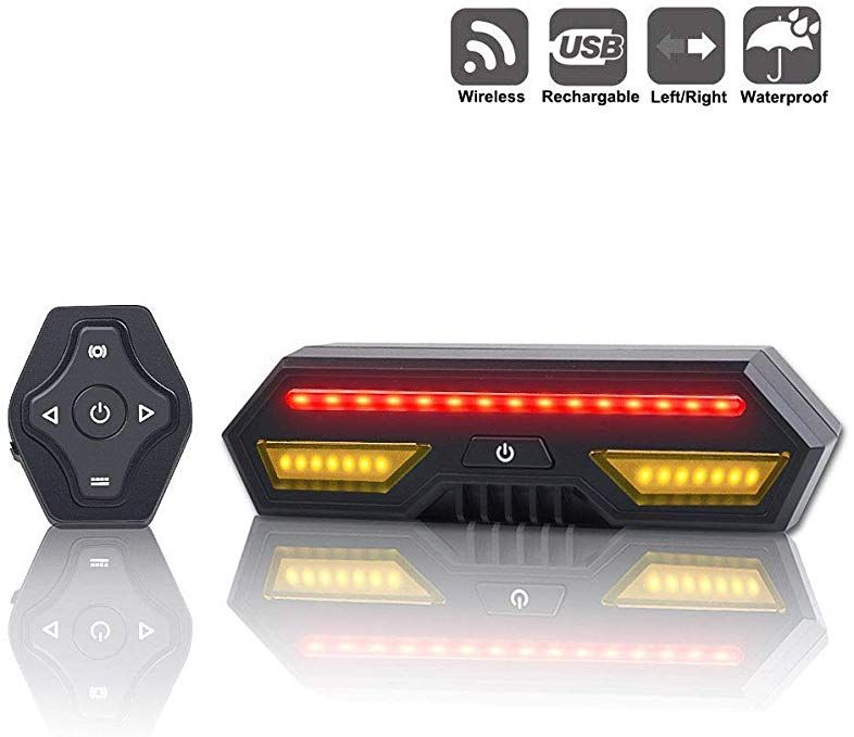 Panapo Bike Tail Light With Turn Signals Wireless Remote Control