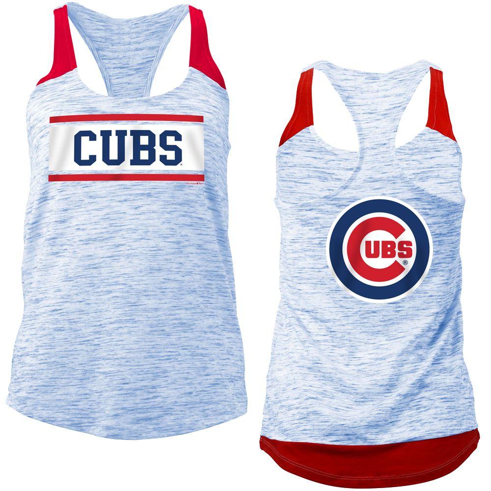 cd85a42f7da4b6 Chicago Cubs Women s Space Dye Racerback Tank Top  ChicagoCubs  Cubs   FlyTheW  MLB  ThatsCub