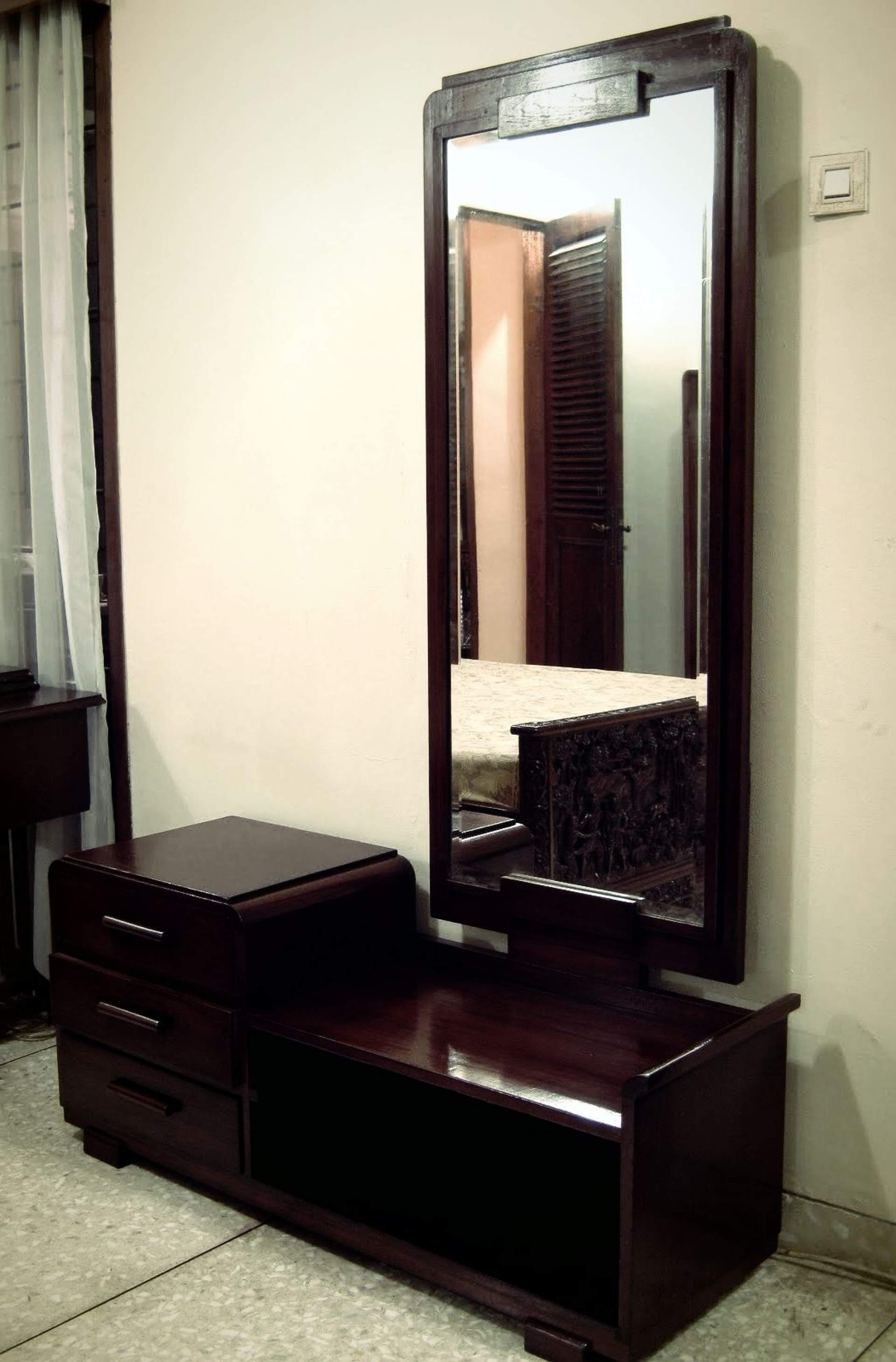 Modern Dressing Table Designs With Full Length Mirror Meja Karimun Makan Dining Rumah Kayu Jatu Classic Art