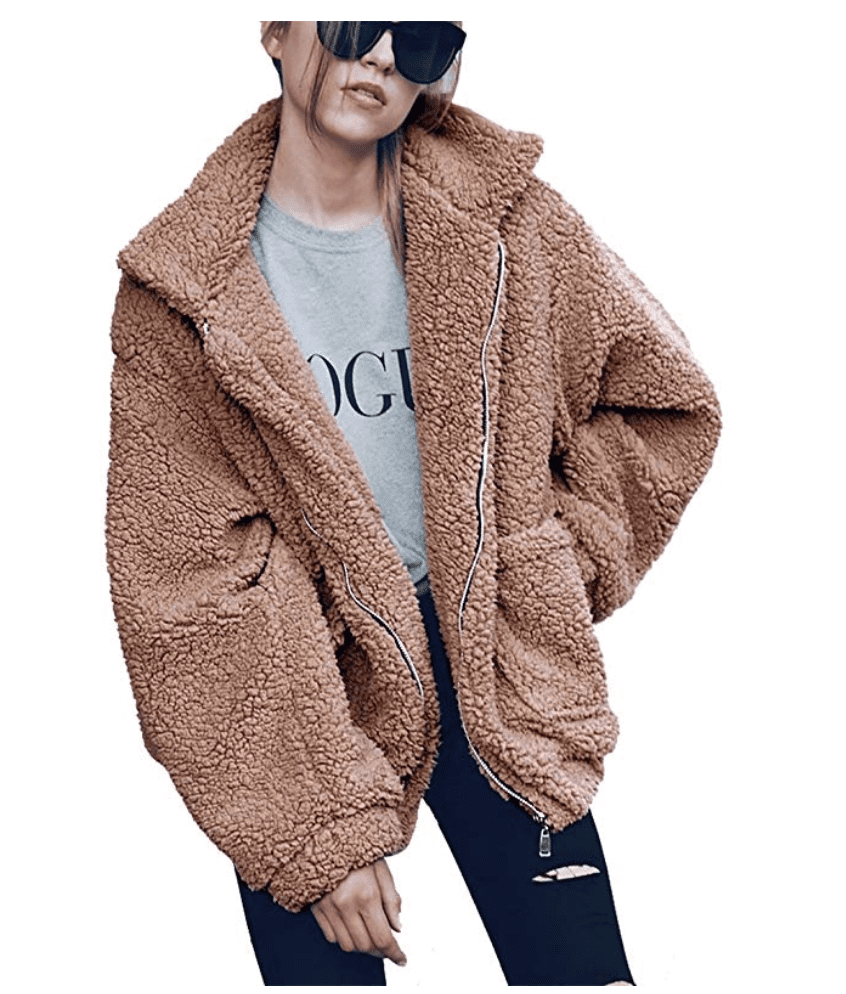 This PrettyGarden women s faux fur coat is lined with a really soft  material on the inside just as the outside. wearing it is like a big fluffy  blanket and ... 12112b2198