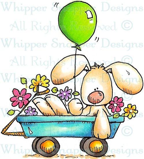 Celebration Bunny - Rabbits - Animals - Rubber Stamps - Shop
