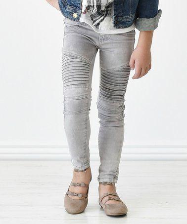 af1180f80f3f2 Loving this Gray Moto Leggings - Toddler & Girls on #zulily! #zulilyfinds
