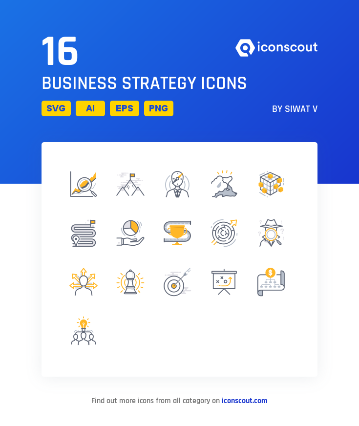 Download Business Strategy Icon Pack Available In Svg Png Eps Ai Icon Fonts Business Strategy Icon Pack Business Icon