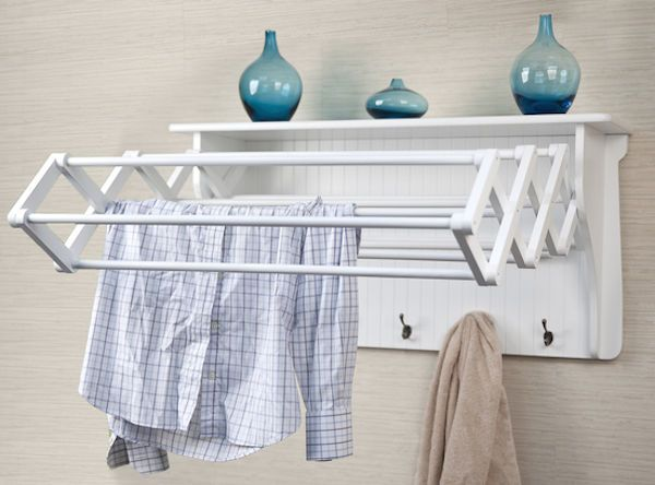 clothes drying rack laundry wooden