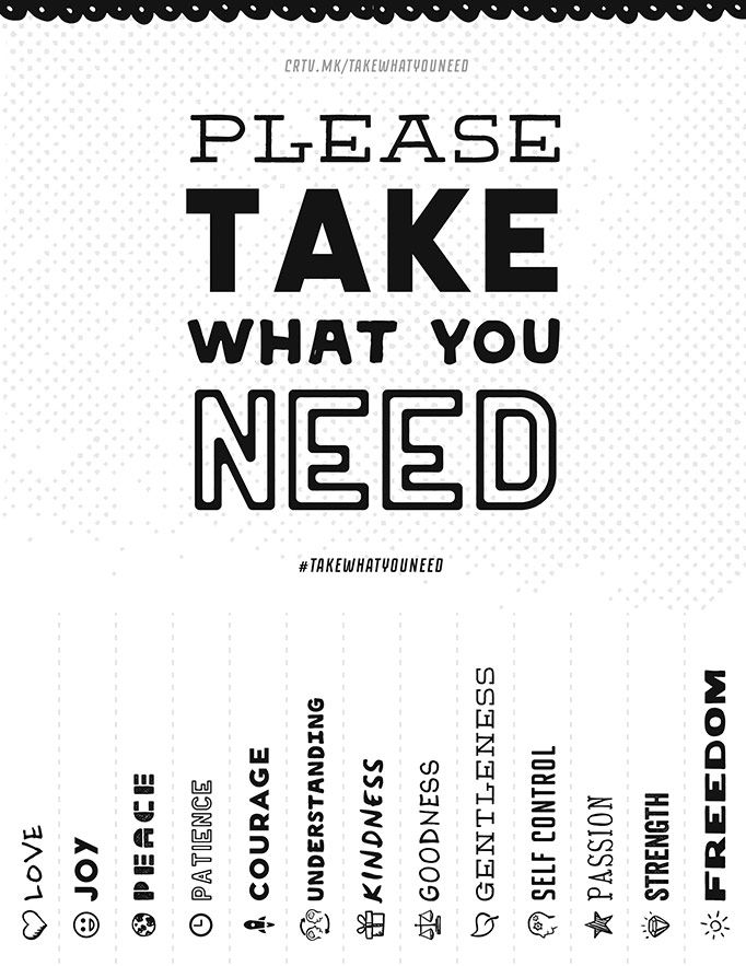 Please Take What You Need | Take what you need, School counseling ...