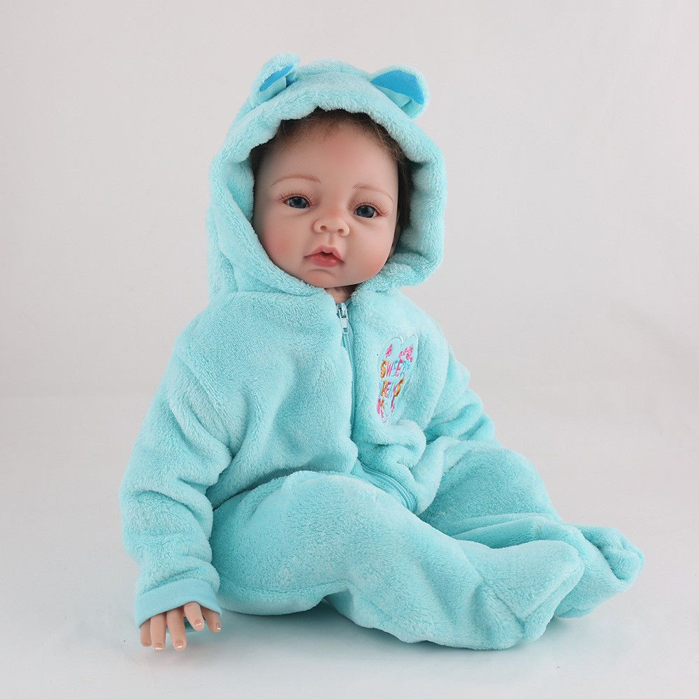 Soft Silicone Baby Reborn Doll For Sale 22 Inch Smiling