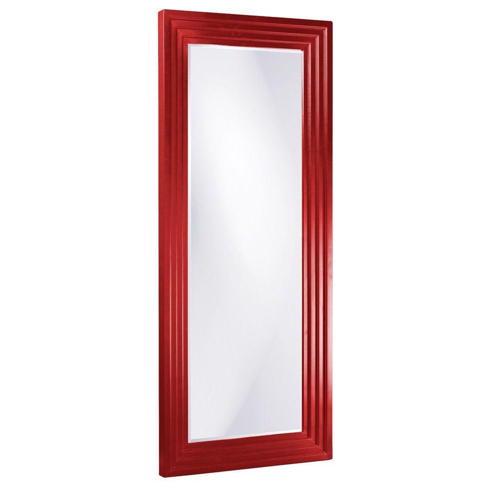 "Howard Elliott Delano Red Tall Mirror 34"" x 82"" x 3"""