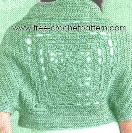 Bolero Crochet Sleigh Shrugh Free Pattern Free Crochet