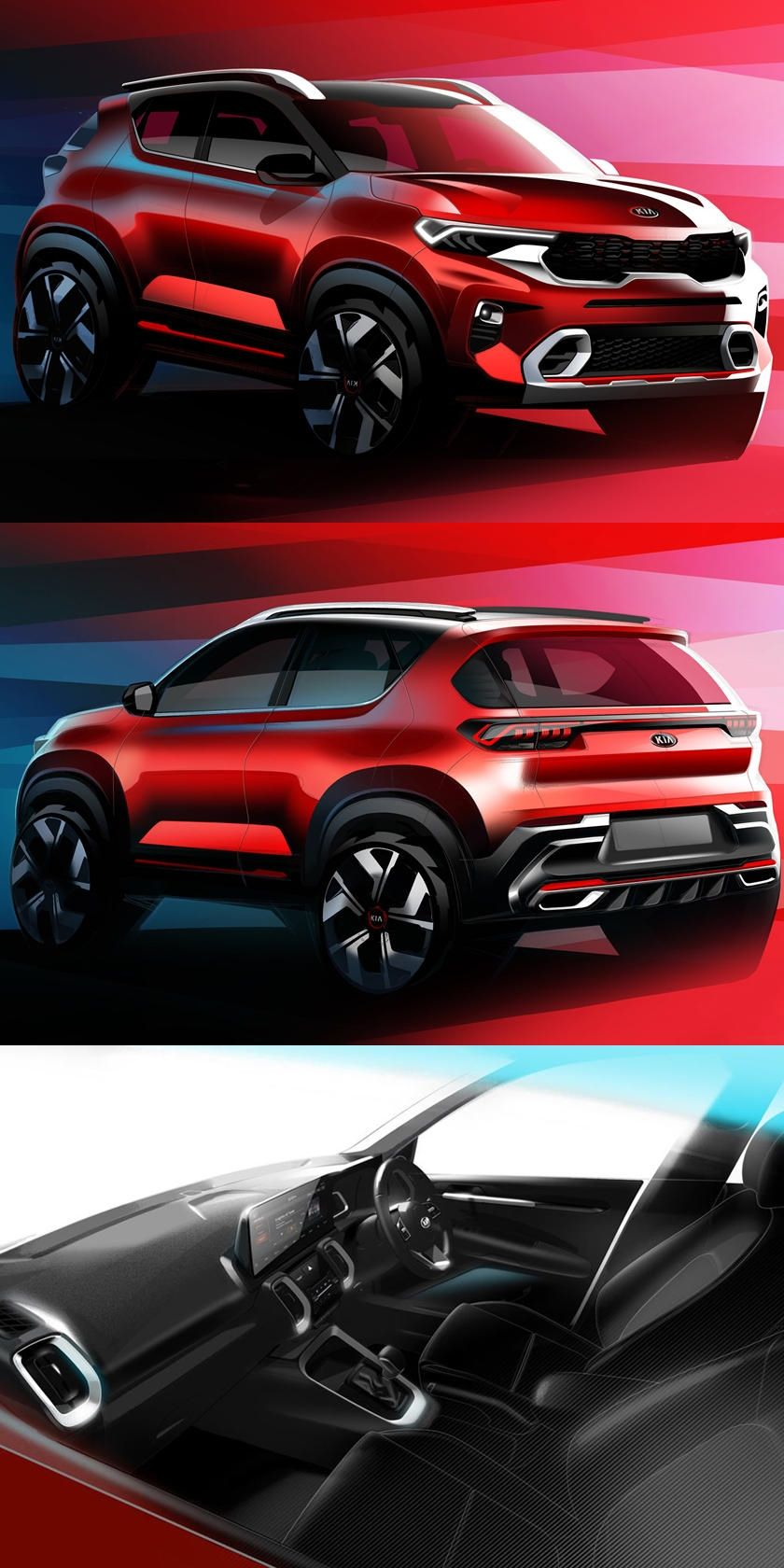 All New Kia Sonet Is A Baby Suv With Powerful Looks Aimed At A Younger Audience In India And Beyond In 2020 Suv Kia New Suv