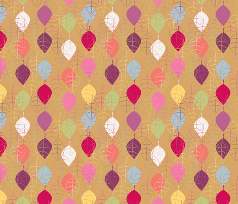 Graphic fall leaves by Nadja Petremand
