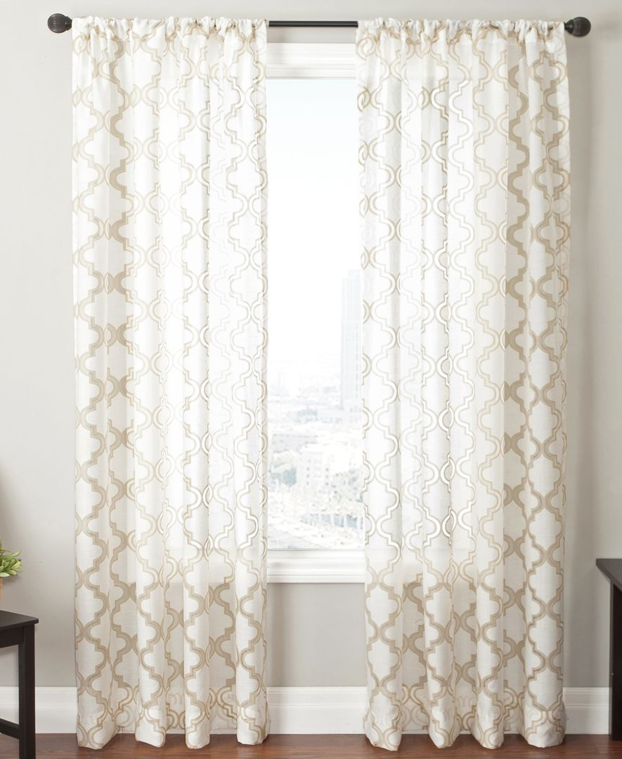 Macys Curtains For Living Room Closeout Softline Sheer Samara Burnout 55 X 108 Panel Window