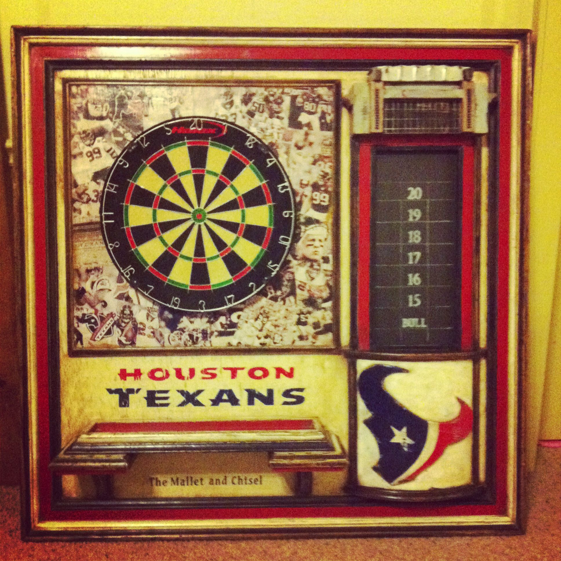Houston Texans Dartboard  @themalletandchisel.com