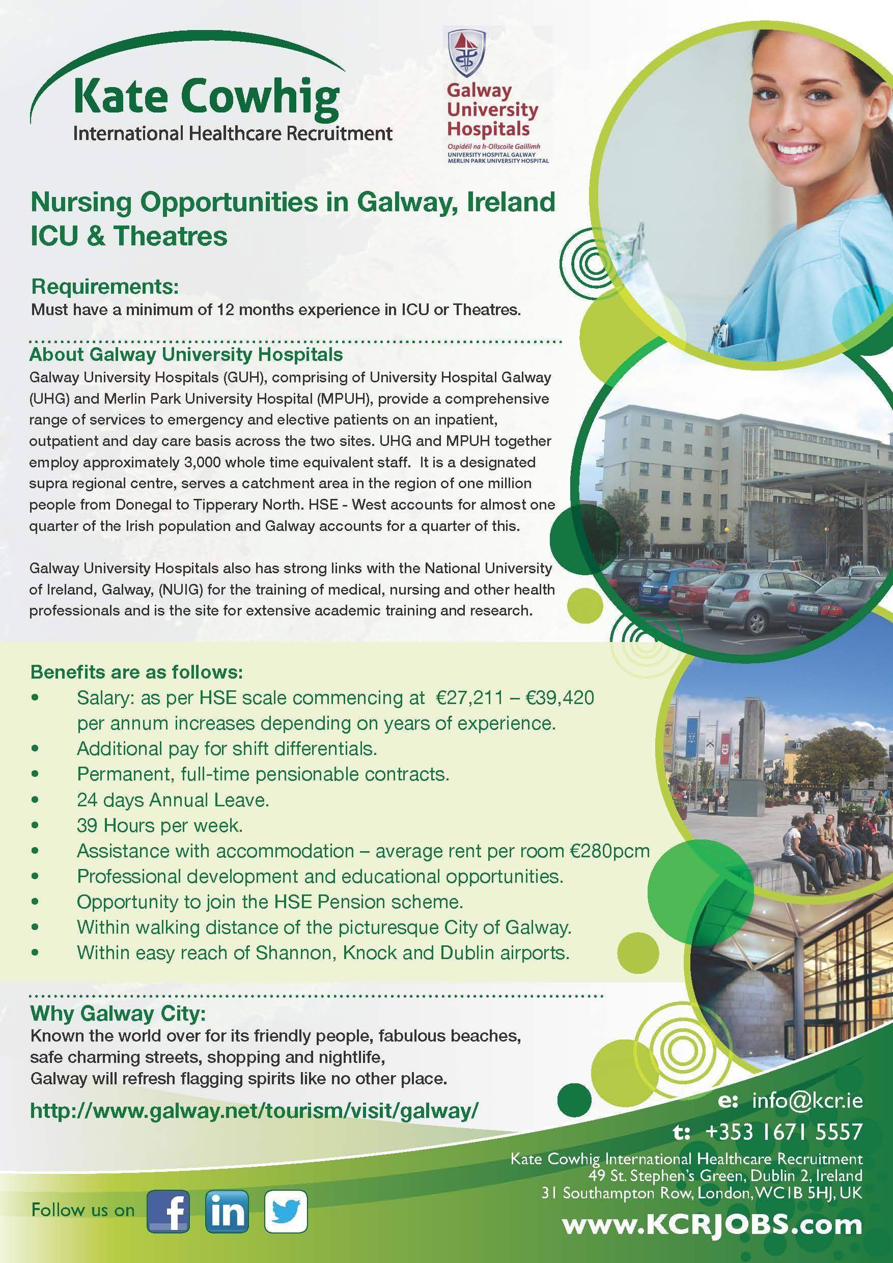 Immediate permanent vacancies for icu theatres staff