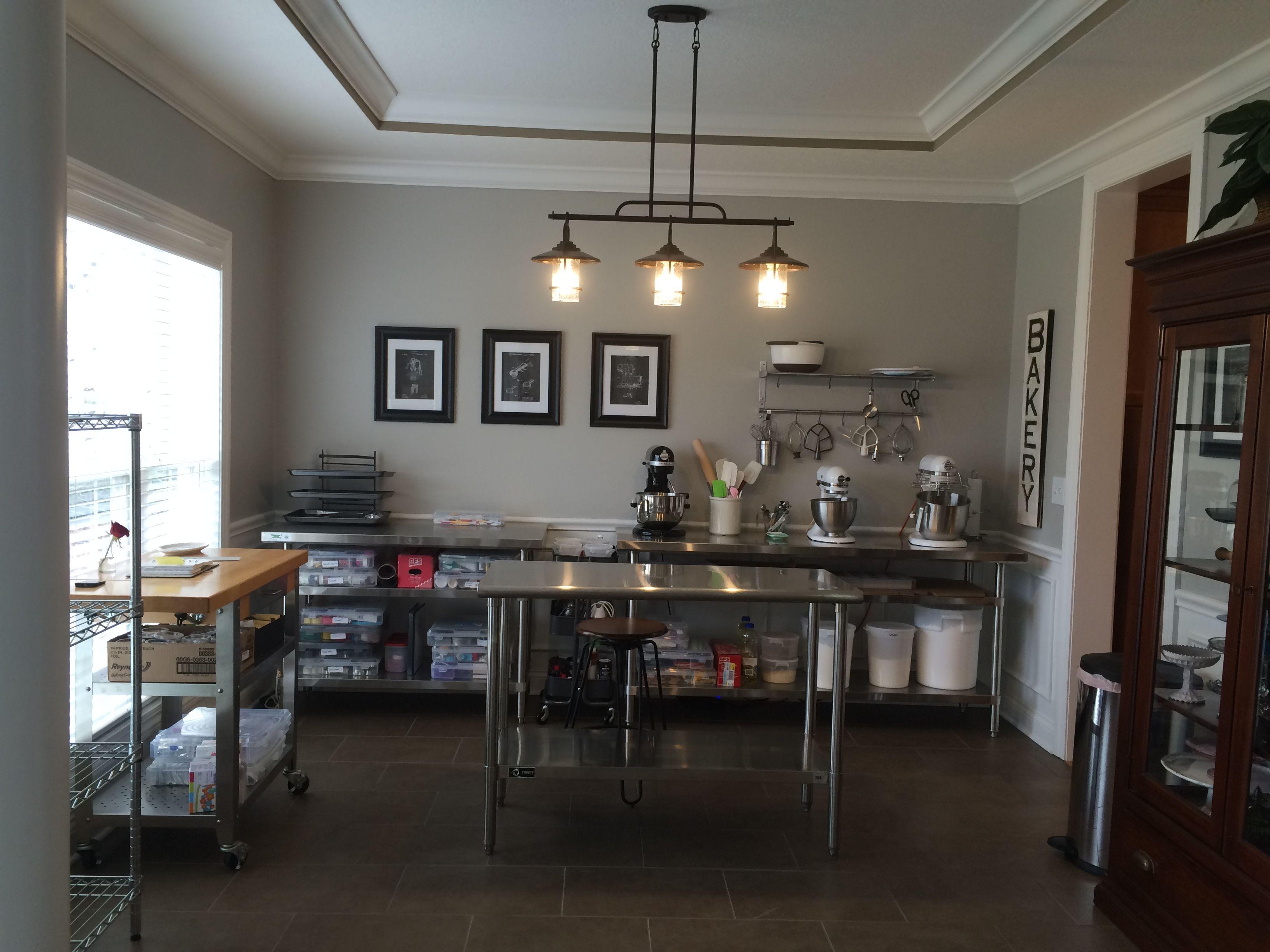 Repurposed My Formal Dining Room Home Bakery Prep Area