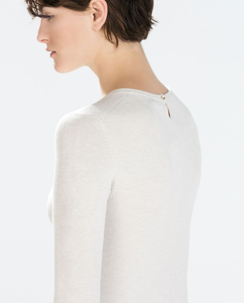 ZARA - COLLECTION AW15 - RAYON SWEATER WITH BUTTONED CUFF