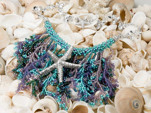 Siren's Song Necklace -- combine Kumihimo & Beadwork for a cool necklace