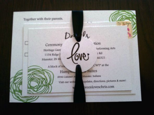 Our DIY Wedding Invitations : wedding embossing stamping ...
