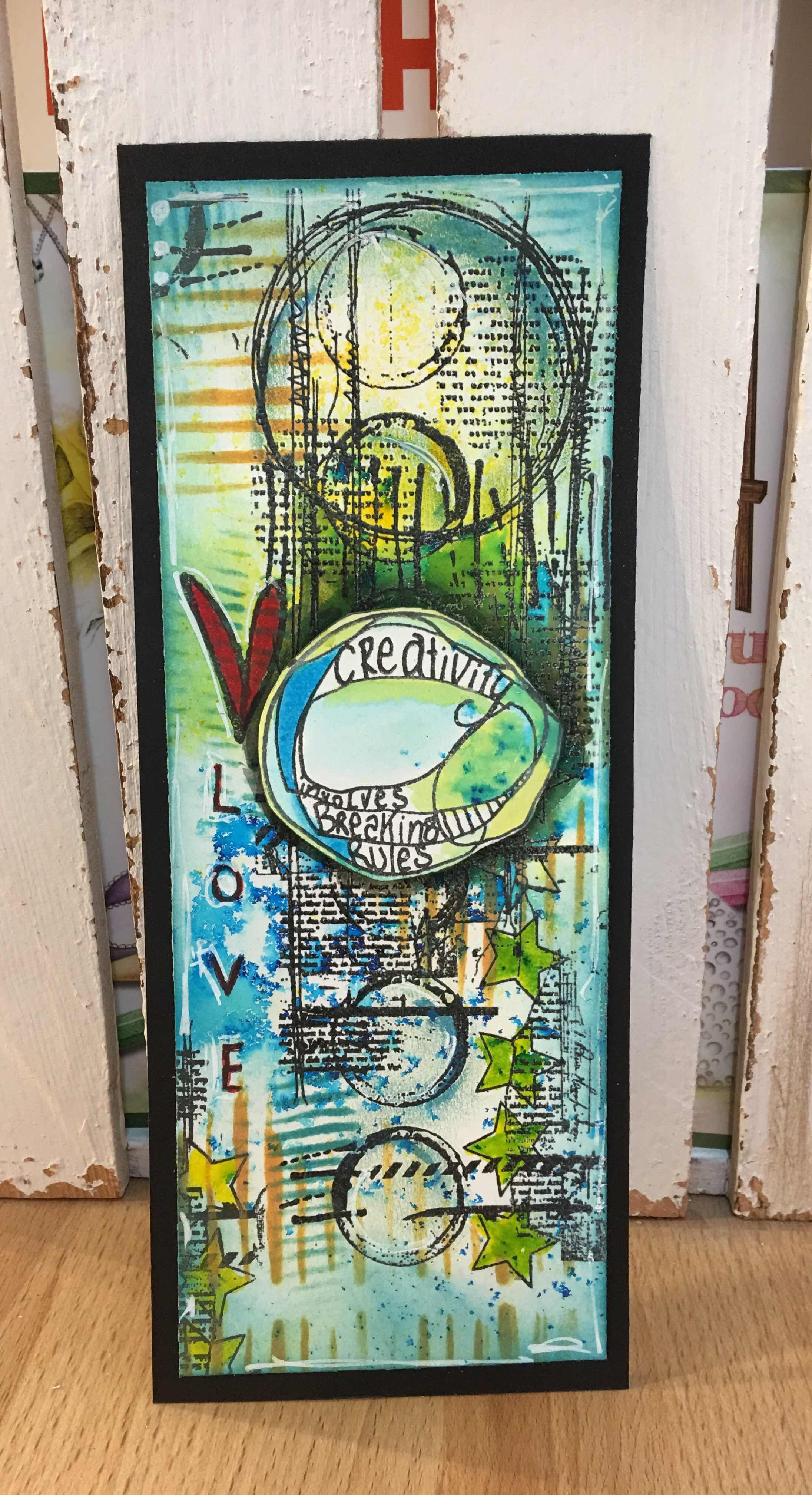 Leonie Pujol Back To The Grindstone Collage Art Mixed Media Tag Art Artwork
