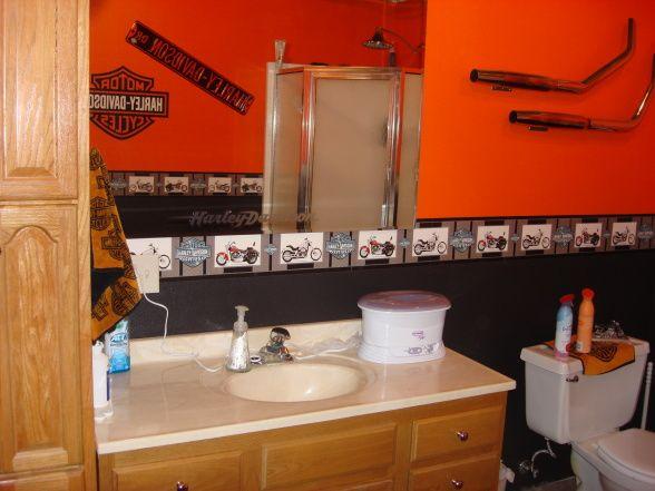 Harley Decorating Harley Davidson Bathroom Kinda Small
