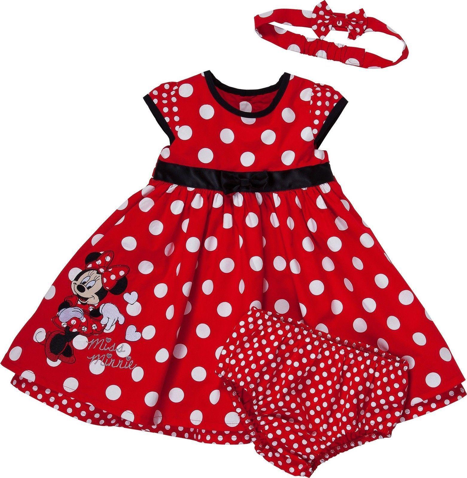 Disney Minnie Mouse Baby Girl Dress Knicker Amp Headband Set