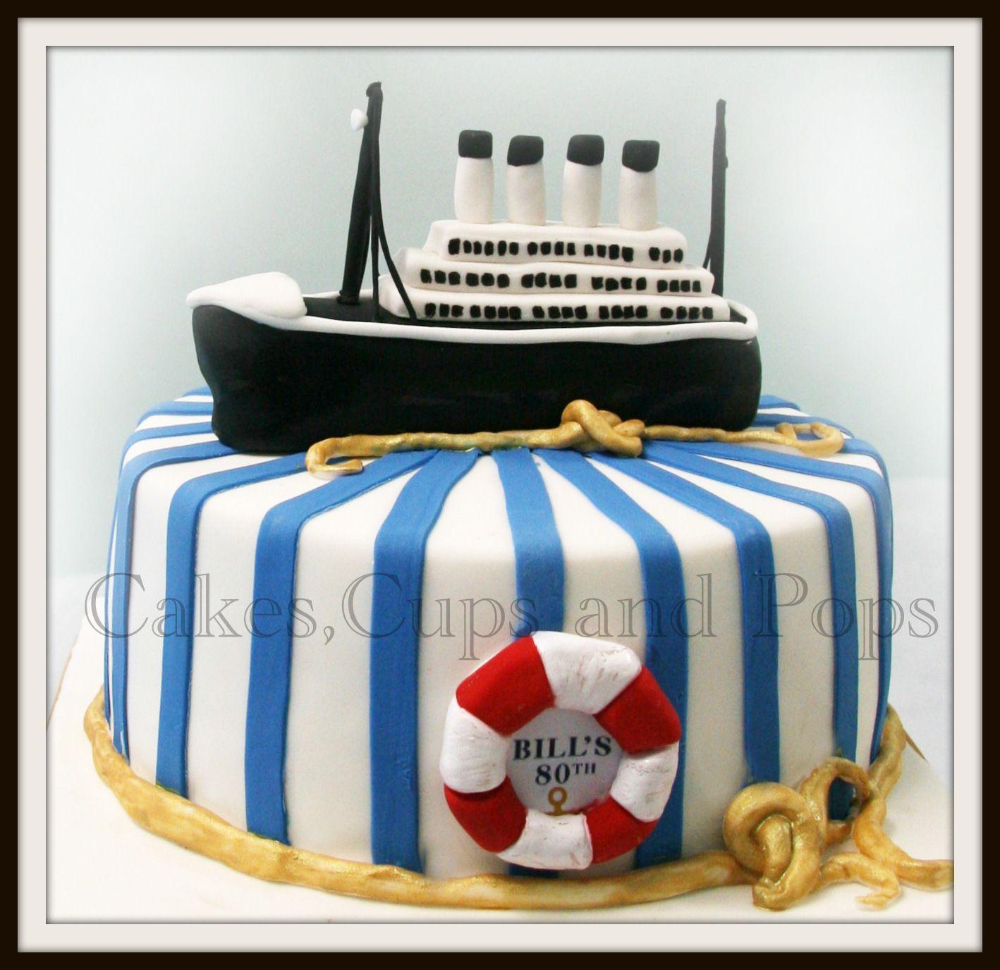 Titanic White Chocolate Mud 100 Cake And Topper