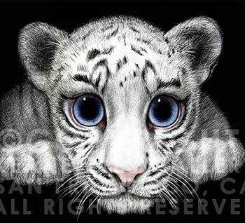 WHITE TIGER Margaret Keane